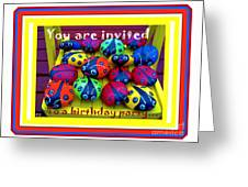 You Are Invited To A Birthday Party Greeting Card