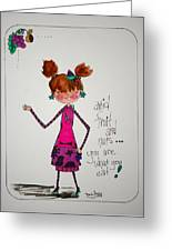 You Are What You Eat Greeting Card by Mary Kay De Jesus