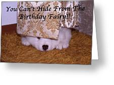 You Can't Hide Birthday Card Greeting Card