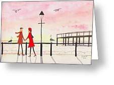 You Me And The Seagulls Greeting Card