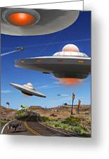 You Never Know What You Will See On Route 66 Greeting Card by Mike McGlothlen