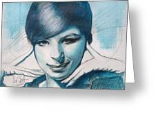 Young Barbra Streisand Greeting Card