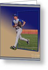 Young Baseball Athlete Greeting Card