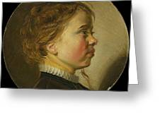 Young Boy In Profile  Greeting Card