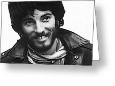 Young Bruce Springsteen Greeting Card