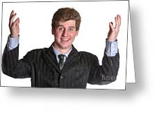 Young Business Man  Greeting Card