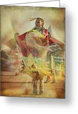 Young Canadian Aboriginal Dancer Greeting Card