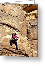 Young Climber In Joshua Tree Np-ca- Greeting Card