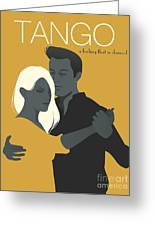 Young Couple Dancing Tango Greeting Card