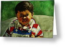 young Giovanni Greeting Card