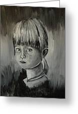Young Girl Crying Greeting Card