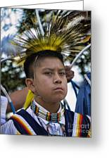 Young Hopi Greeting Card