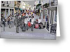 Young Jews In Venice Greeting Card