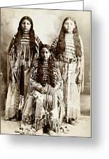 Young Kiowa Belles 1898 Greeting Card