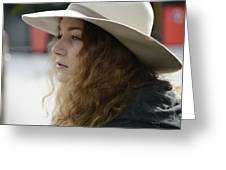 Young Lady With White Hat 2 Greeting Card