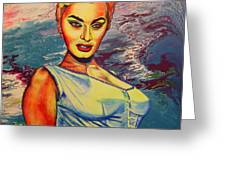 Young Lady.sophia. Greeting Card
