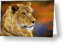 Young Lion Greeting Card