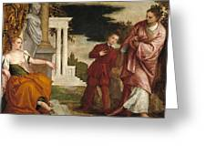 Young Man Between Vice And Virtue Greeting Card