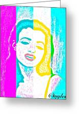 Young Marilyn Soft Pastels Impression Greeting Card