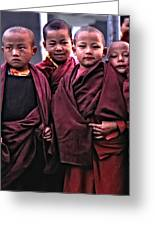 Young Monks II Greeting Card