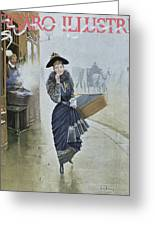Young Parisian Hatmaker Greeting Card by Jean Beraud