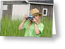 Young Photographer Greeting Card by Maria Dryfhout