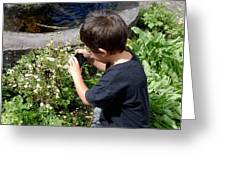 Young Photographer Greeting Card