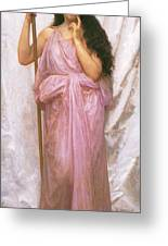 Young Priestess Greeting Card