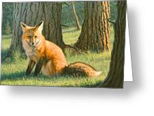 Young Red Greeting Card