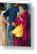 Young Tibetan Monk Greeting Card by Dagmar Batyahav