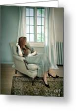 Young Woman In A Chair Greeting Card