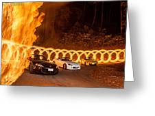 Your Cars On Fire Greeting Card