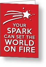 Your Spark Red Greeting Card