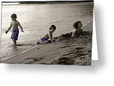 Youth At The Beach Greeting Card