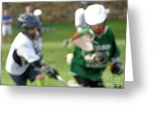 Youth Lacrosse Greeting Card
