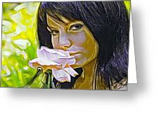 Youthful Rose Greeting Card by Brian Giddings