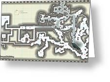 Yrchyn The Tyrant Kobold Lair Map Greeting Card