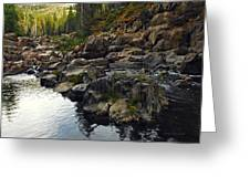 Yuba River Rocks Greeting Card
