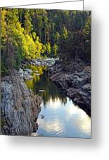 Yuba River Twilight Greeting Card