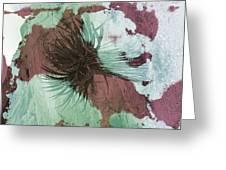 Yucca Abstract Sage And Mauve Greeting Card