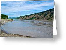 Yukon River As It Heads Northeast To The Arctic Circle-yt Greeting Card