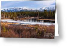 Yukon Taiga Wetland Marsh Spring Thaw Canada Greeting Card