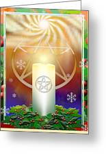 Yule Sun Greeting Card