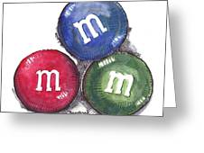 Yummy M And Ms Greeting Card