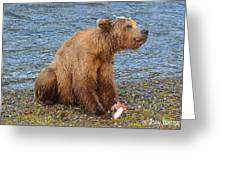 Yummy Salmon Greeting Card