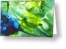 Yupo Blue Ice Greeting Card