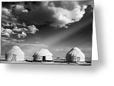 Yurts Greeting Card