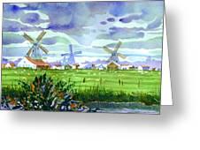 Zaanse Schans Windmills Greeting Card