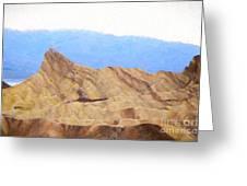 Zabriskie Point Greeting Card