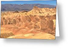 Zabriskie Point Medium Panorama Greeting Card